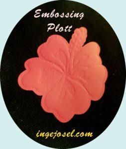 embossing plott hibiskusblüte